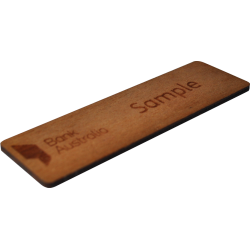 Engraved name badge - wood
