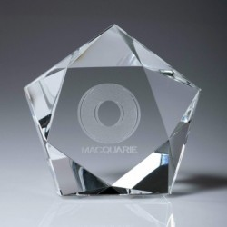 Crystal Star Paperweight 100mm