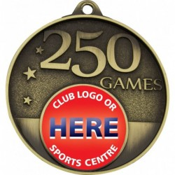 250 Games Milestone Medal Gold