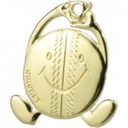 Cricket Smiley Medal Gold