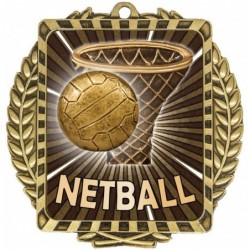 Netball Lynx Wreath Gold