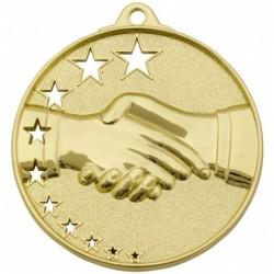 Handshake Stars Medal Gold