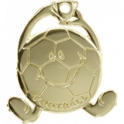 Soccer Character Medal Gold