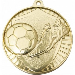Soccer Shield Medal Gold