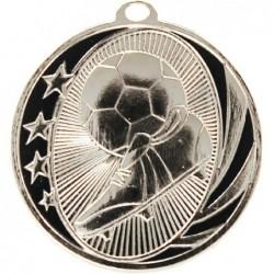 Soccer Midnight Medal Silver