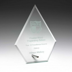 Clear Glass Plaque 150mm