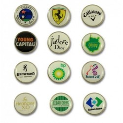 Golf metal ball marker with...