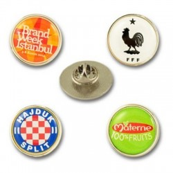 Round metal lapel pins with...