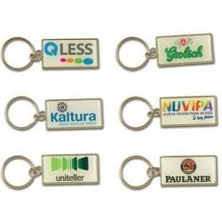 Rectangle metal keychain...