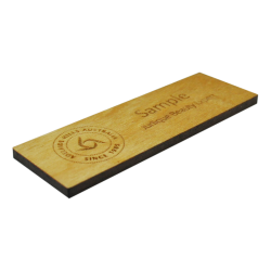 Engraved wooden name badge