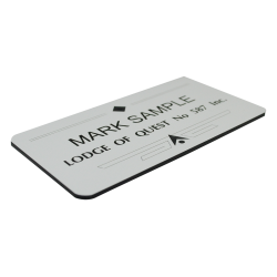 Engraved name badge -...
