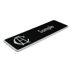 Engraved name badge - bevelled