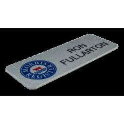 Printed PPC Silver Name Badge