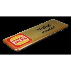 Printed Euro Gold Name Badge
